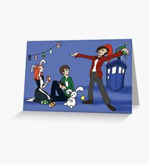 The Doctor is Late: Happy Holiday Greetings! Greeting Card