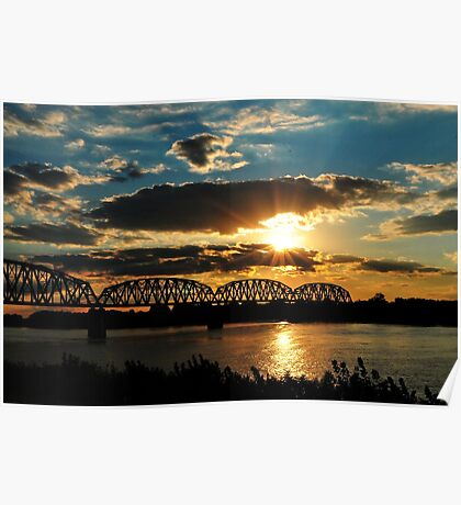 Sunsets On The Ohio River Poster