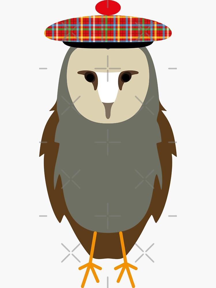 NDVH Owl Wearing a Tam o'Shanter by nikhorne