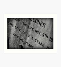 Pioneer Cemetery Art Print