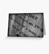 Pioneer Cemetery Greeting Card