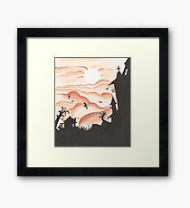 Blood Red Sky Framed Print