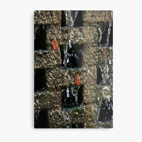 Cascading Water on a Wall Metal Print
