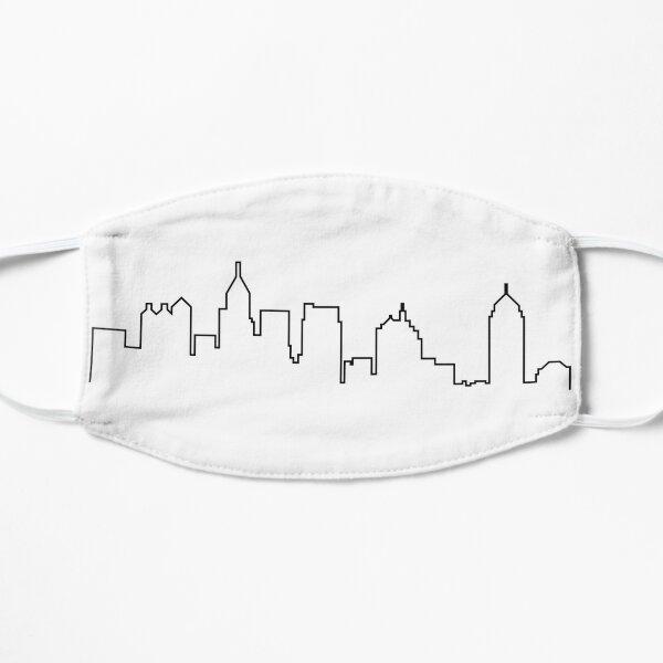 Atlanta, Georgia City Skyline Silhouette  Mask