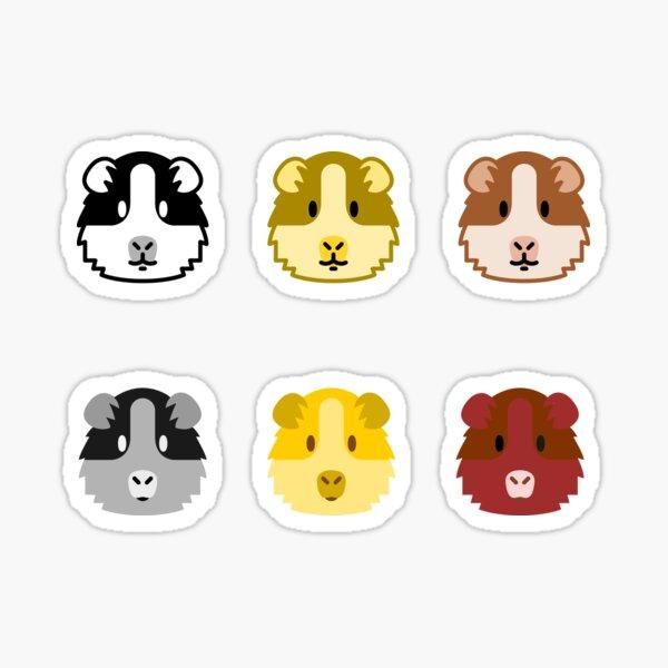 Gift for guinea pig sticker pack Sticker