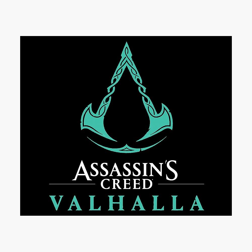 Assassin S Creed Valhalla Logo Poster By Digitalaurora Redbubble