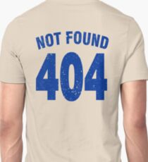 Team shirt - 404 Not Found, blue Unisex T-Shirt