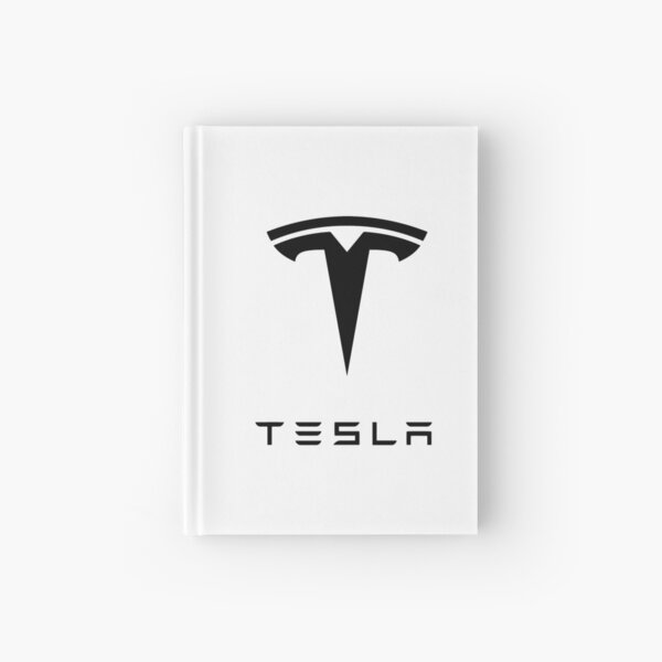 tesla logo Hardcover Journal