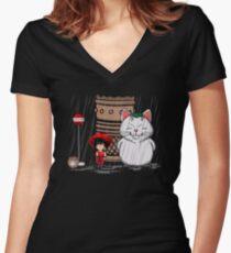Mein Nachbar Karin Tailliertes T-Shirt mit V-Ausschnitt