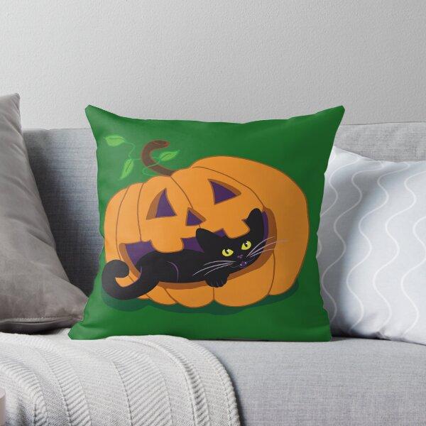 Pumpkin Kitty Throw Pillow