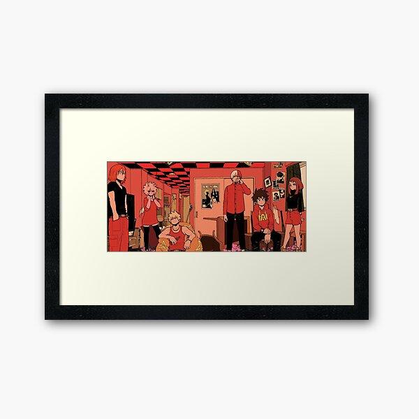 Retro MHA Full Picture Framed Art Print