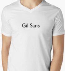 Gil Sans Men's V-Neck T-Shirt