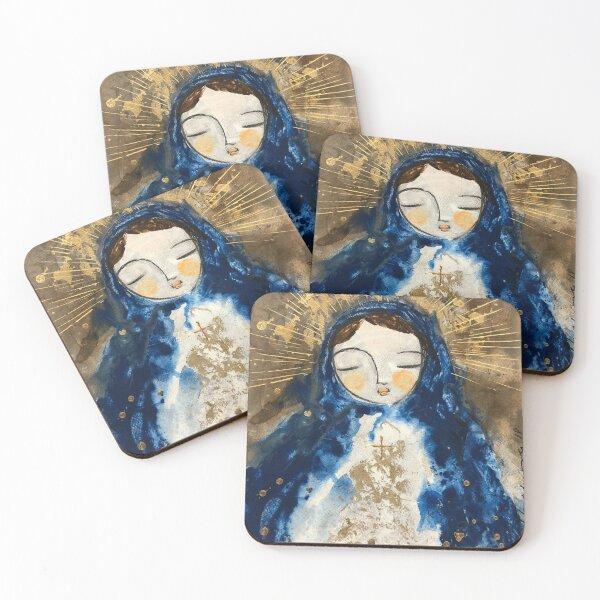 Little Virgin Mary Coasters (Set of 4)