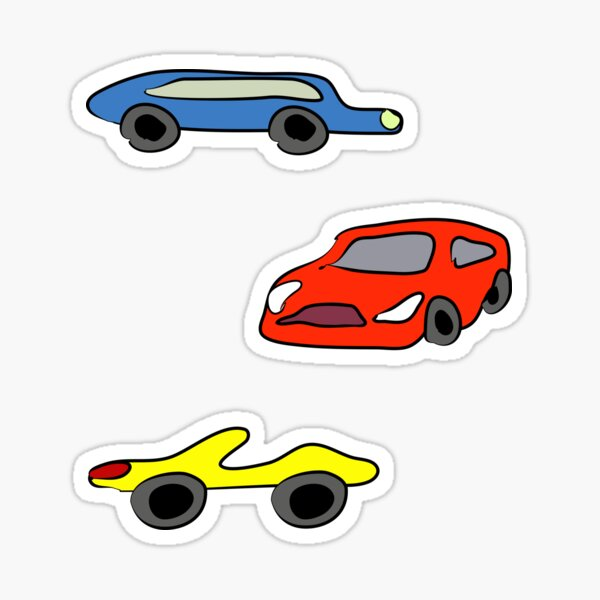 Sticker collection - 3 pieces cars Sticker