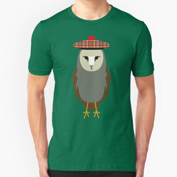 NDVH Owl Wearing a Tam o'Shanter Slim Fit T-Shirt