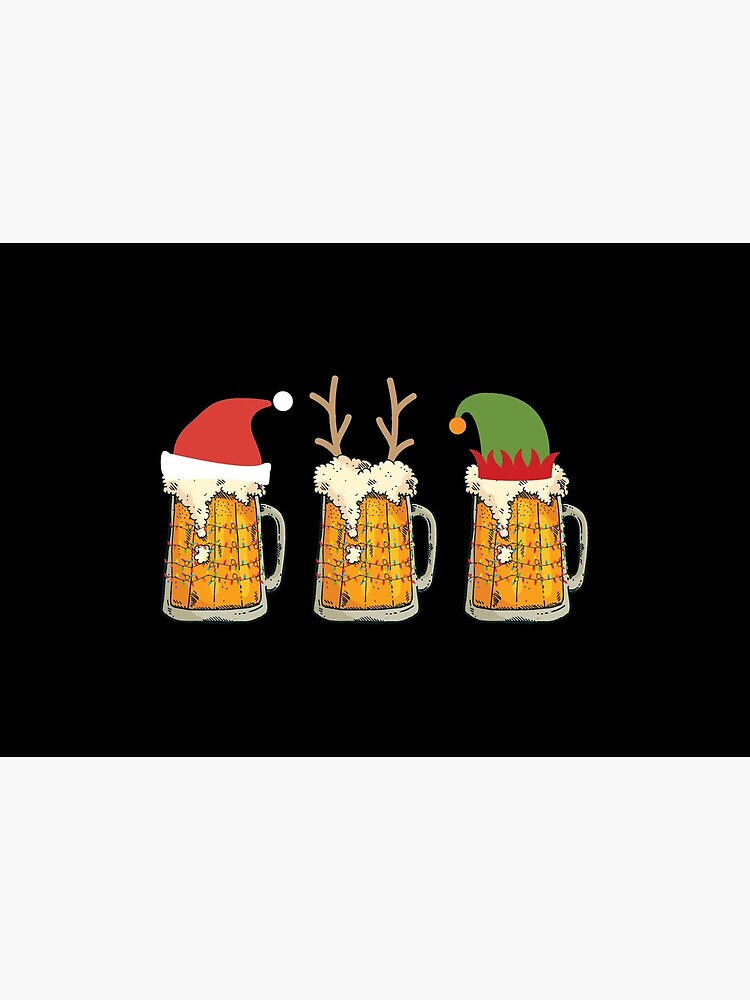 Christmas Beer Mugs Santa Elf Reindeer Drinking Gift by haselshirt