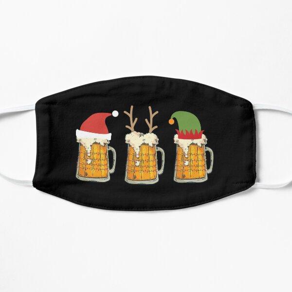 Christmas Beer Mugs Santa Elf Reindeer Drinking Gift Flat Mask