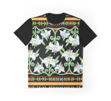 Elizabethan Lily Folkloric Stripe Graphic T-Shirt