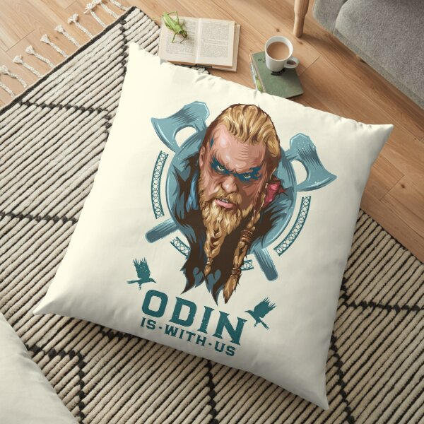 Odin is With Us Floor Pillow