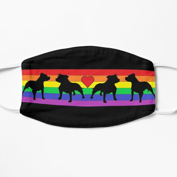 Somewhere over the Rainbow - Staffie - Staffordshire Bull Terrier Mask