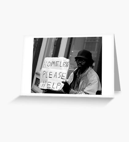 Homeless on the Street Greeting Card