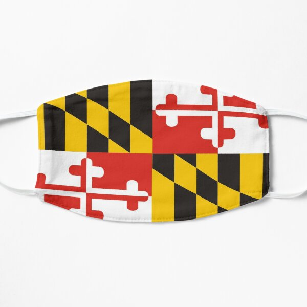 maryland state flag Mask