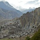 Bragha, 3470m, a traditional Tibetan style village and Gompa, Manang District, Nepal by John Spies