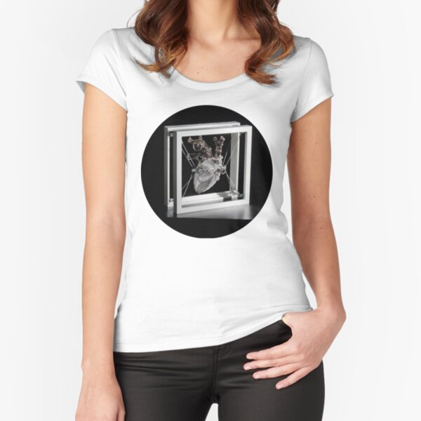 Heart 12x12, circle Fitted Scoop T-Shirt