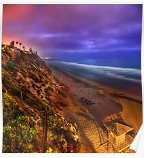 Encinitas at Night Poster