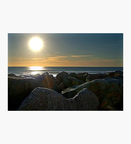 Sunset on the rocks Photographic Print