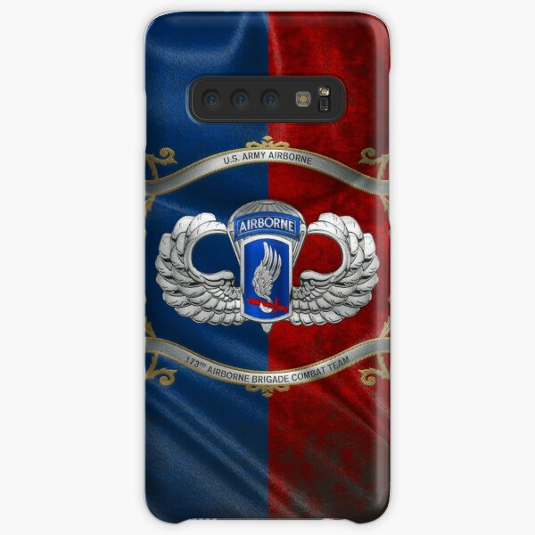 173rd Airborne Brigade Combat Team - 173rd ABCT Insignia with Parachutist Badge over Flag Samsung Galaxy Snap Case