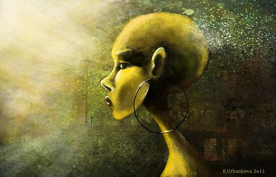 Alien in Yellow -Road of the Dessert by Barbora  Urbankova