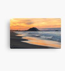 sunset at the Mount Metal Print