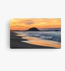 sunset at the Mount Canvas Print