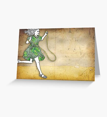 Skipping Girl Postcard Greeting Card