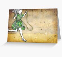 Skipping Girl Postcard Greeting Card