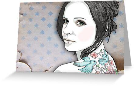 Violet Bella postcard by GretelGirl