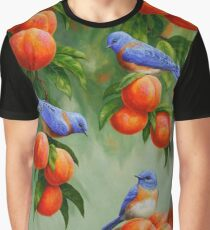 Bluebirds and Peaches Graphic T-Shirt
