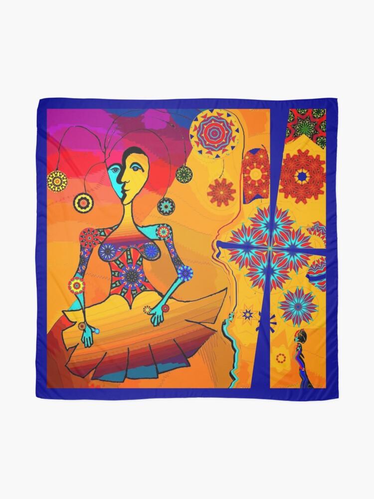 Alternate view of Girl With Kaleidoscope Eyes Scarf