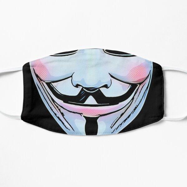 V para la máscara de vendetta Mascarilla plana