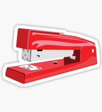 Red Stapler Sticker