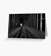 Black Canyon Train Tunnel Greeting Card