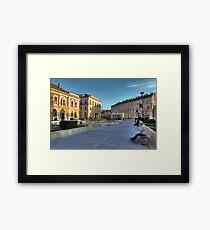 Sopron plaza Framed Print
