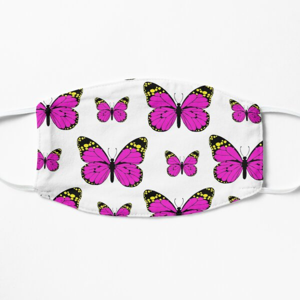 Pink Butterflies are dreaming of Springtime Mask