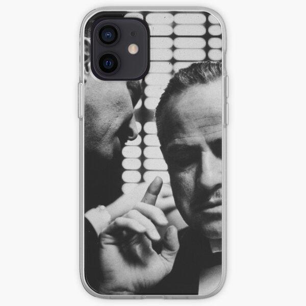 Affiche du film Le Parrain don Marlon Brando Coque souple iPhone