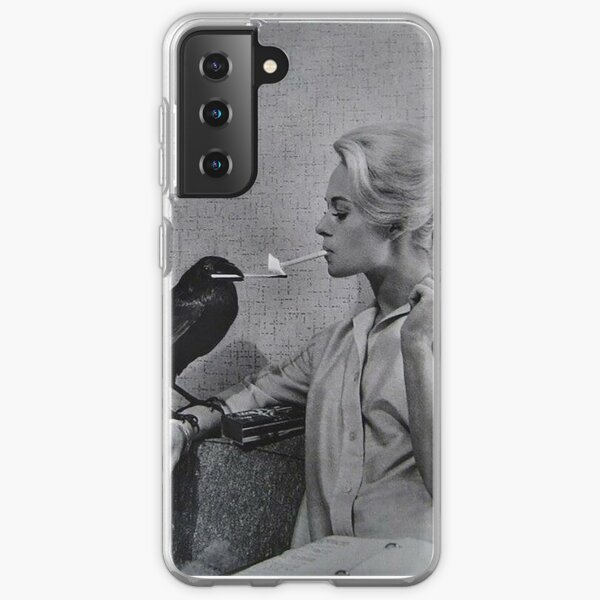 Tippi Hedren having her cigarette lit by a crow on the set of The Birds Samsung Galaxy Soft Case