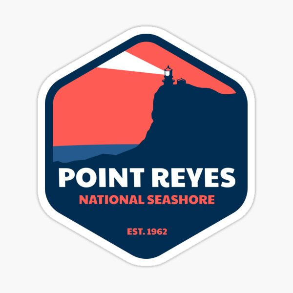 Point Reyes National Seashore Badge Sticker