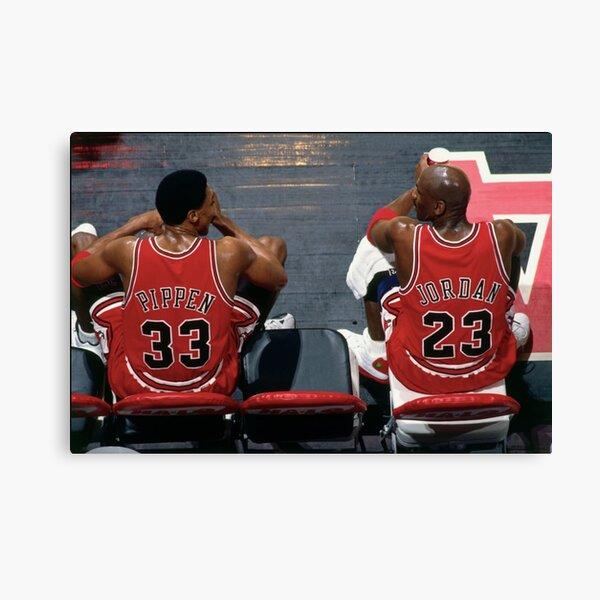 Scottie Pippen et Michael Jordan Impression sur toile