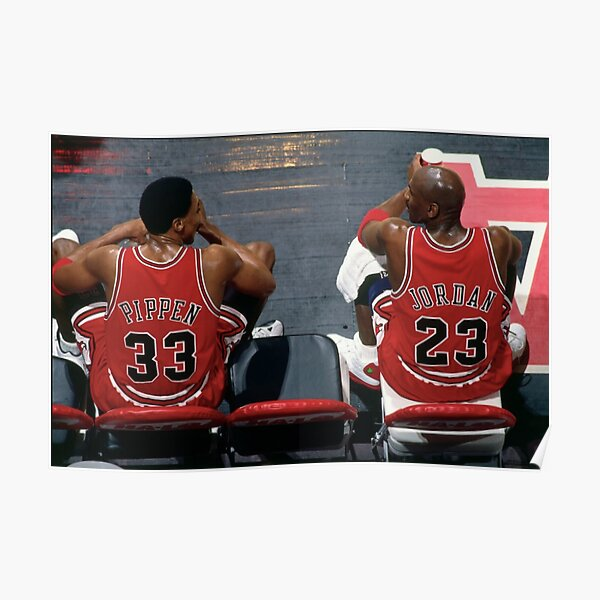 Scottie Pippen and Michael Jordan Poster