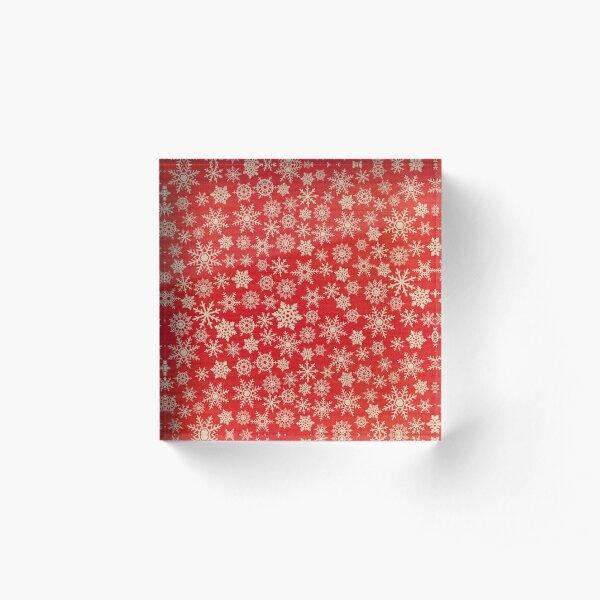Christmas canvas snowflakes Acrylic Block